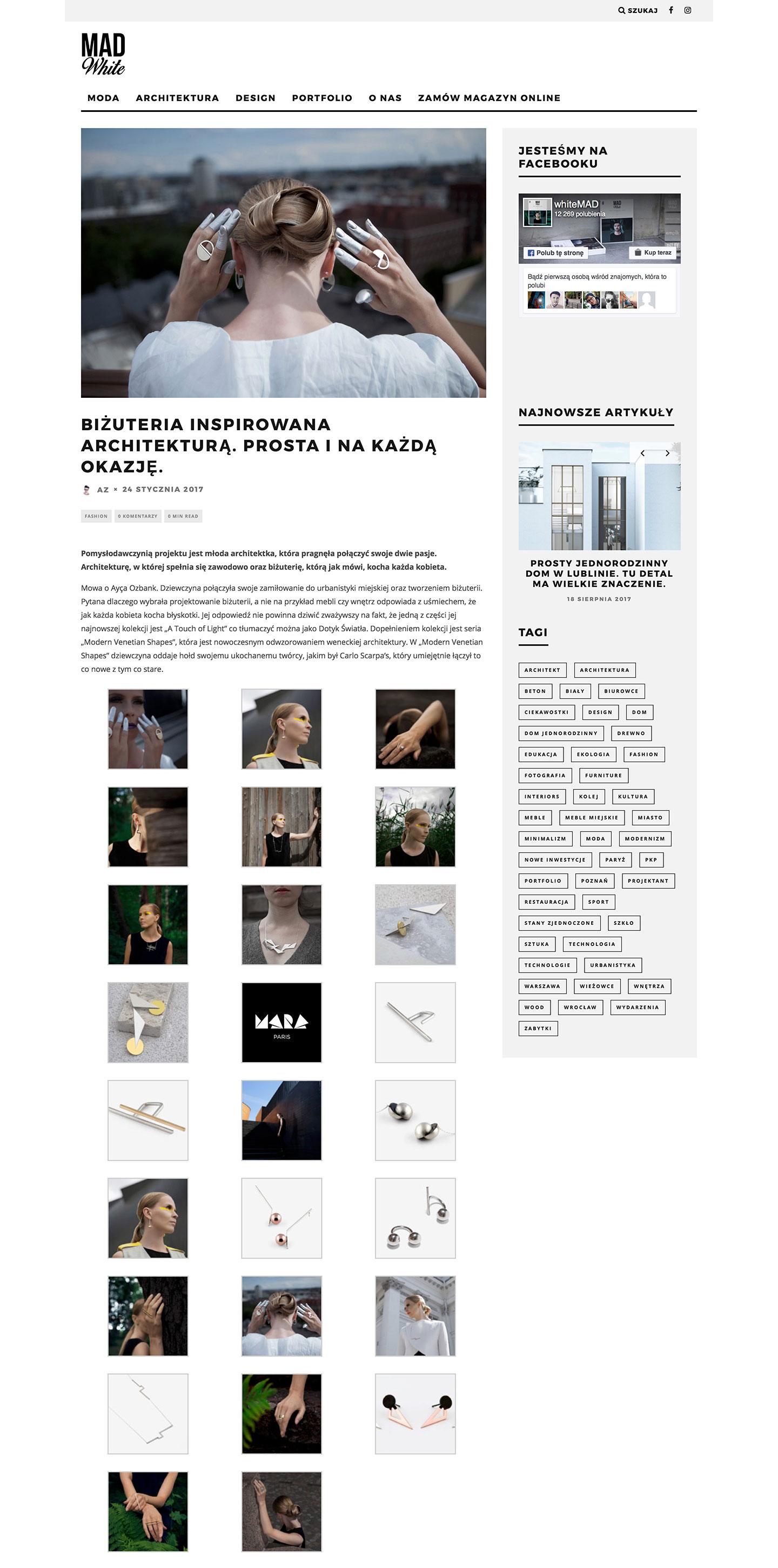 White Mad Magazine - Mara Paris