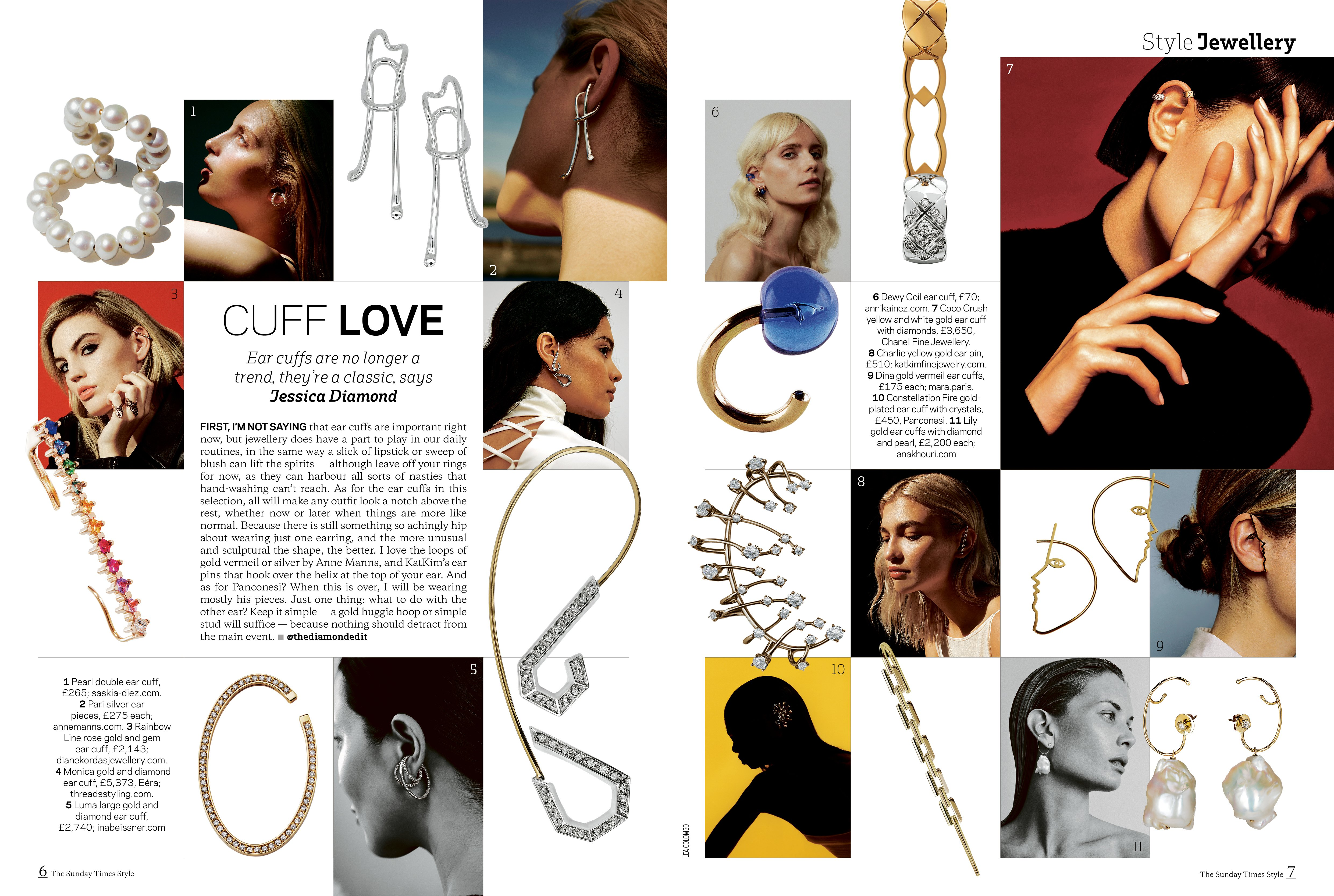 The Sunday Times - Cuff Love, Ear cuffs are no longer a trend, they're a classic, says Jessica Diamond
