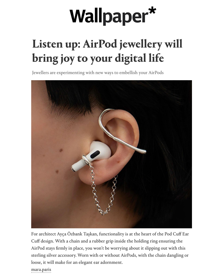 Wallpaper - Listen up: AirPod jewellery will bring joy to your digital life