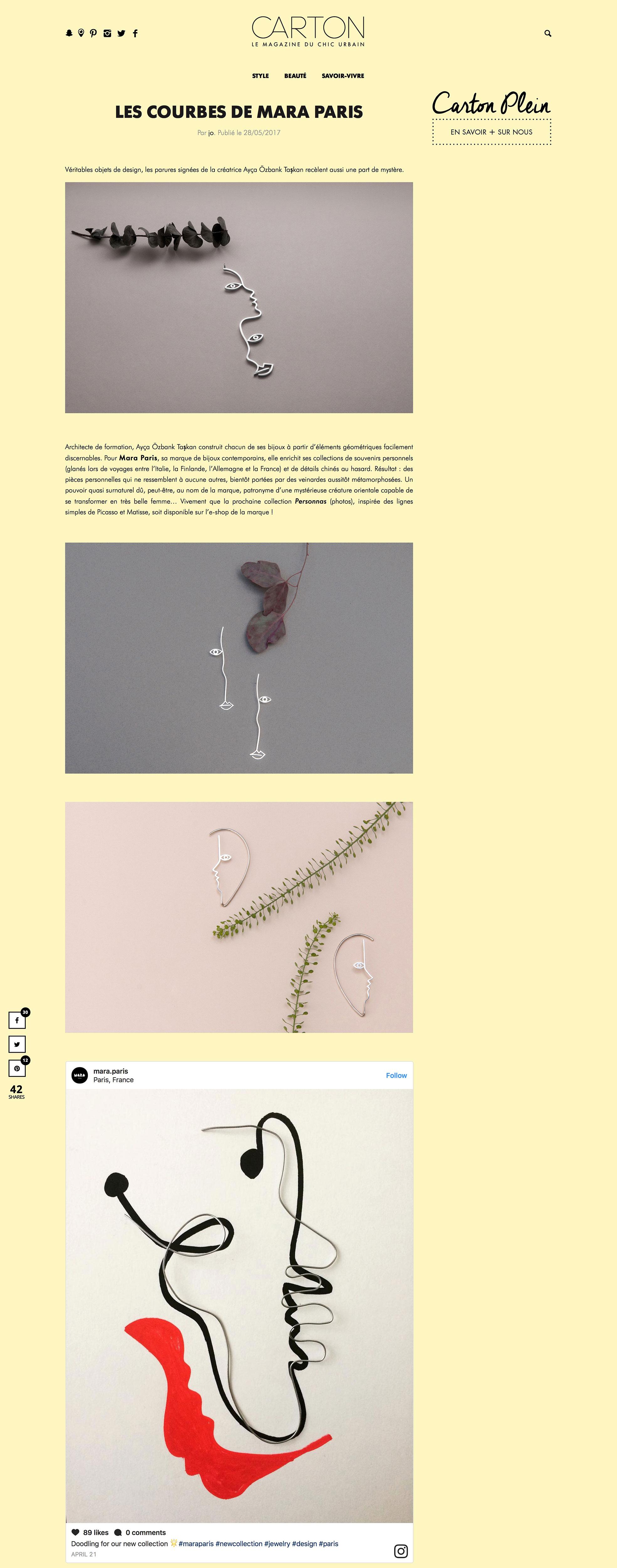 Carton Magazine - Curves of Mara Paris