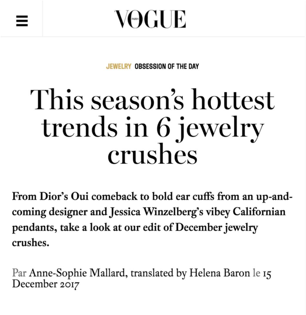 Vogue.fr - This season's hottest trends in 6 jewelry crushes. Mara Paris' mirror ear cuffs.