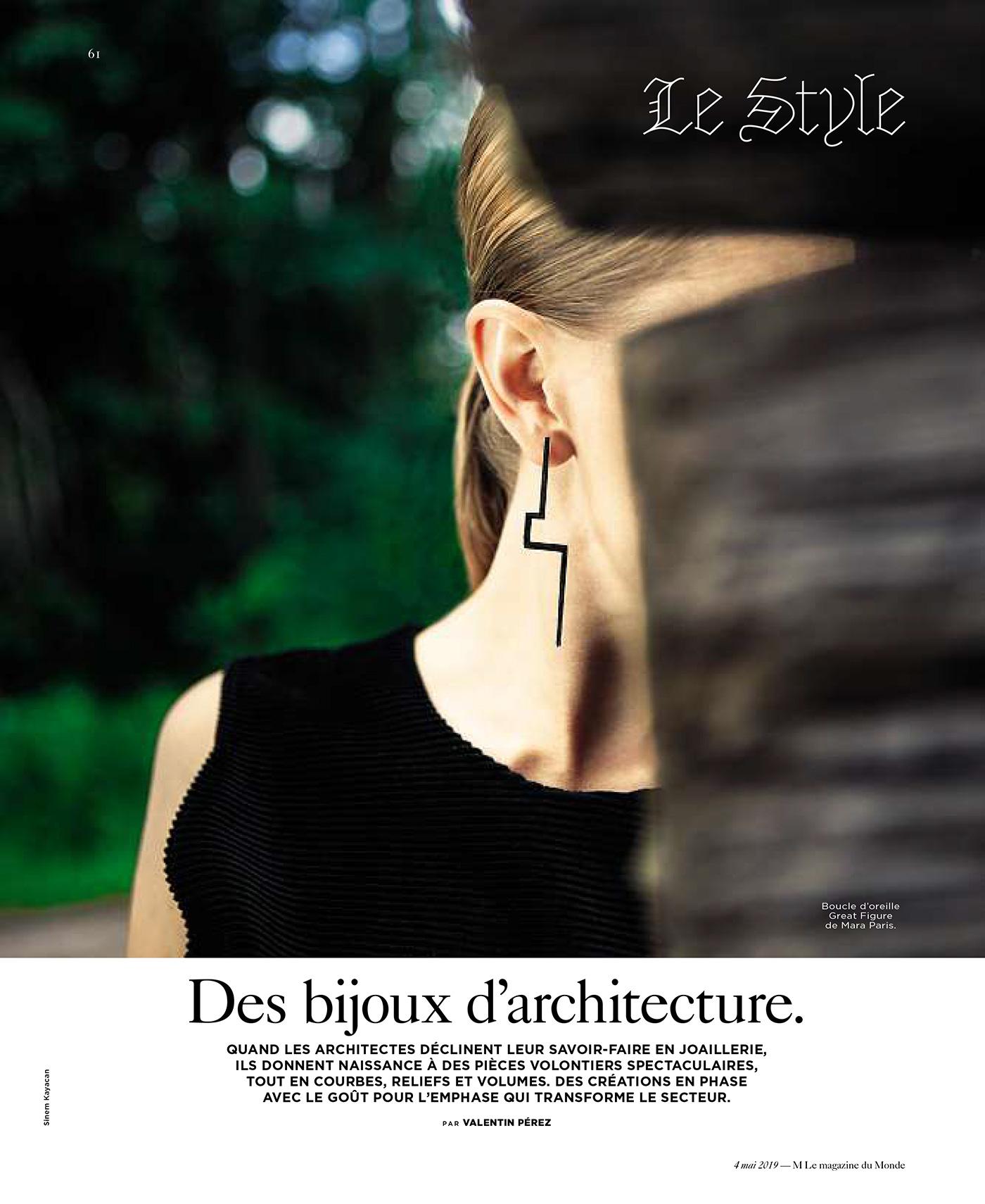 Le Monde - Des bijoux d'architecture. Par Valentin Pérez