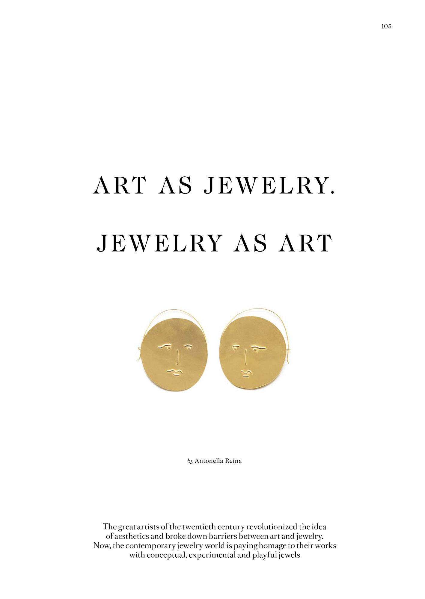 VO+ - Art as jewelry. Jewelry as art.