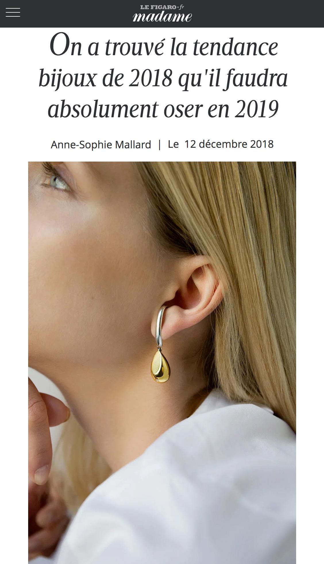 Madame Figaro - On a trouvé la tendance bijoux de 2018 qu'il faudra absolument oser en 2019.