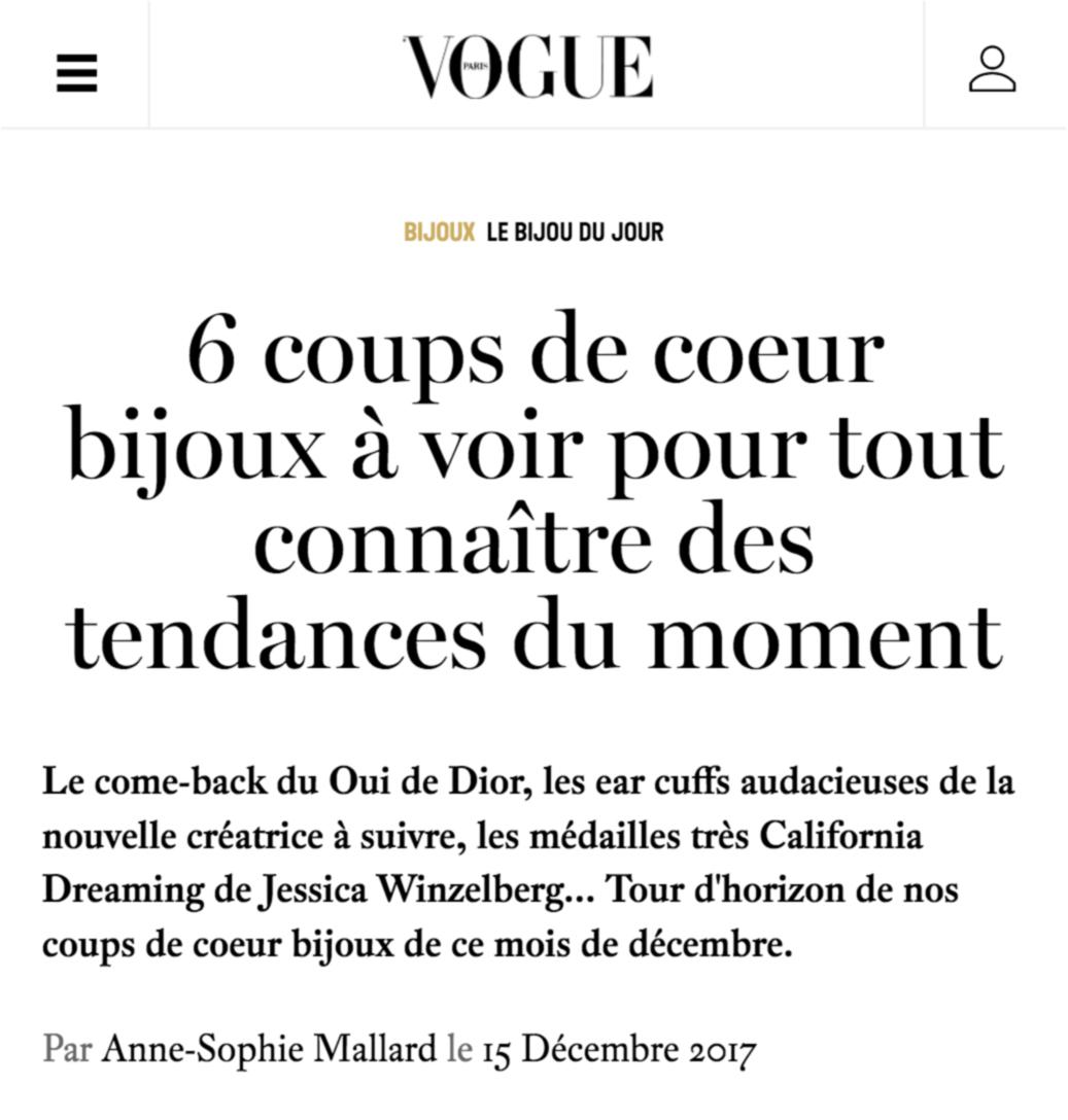 Vogue.fr - 6 coups de coeur bijoux à voir pour tout connaître des tendances du moment. Les ear cuffs miroirs de Mara Paris.