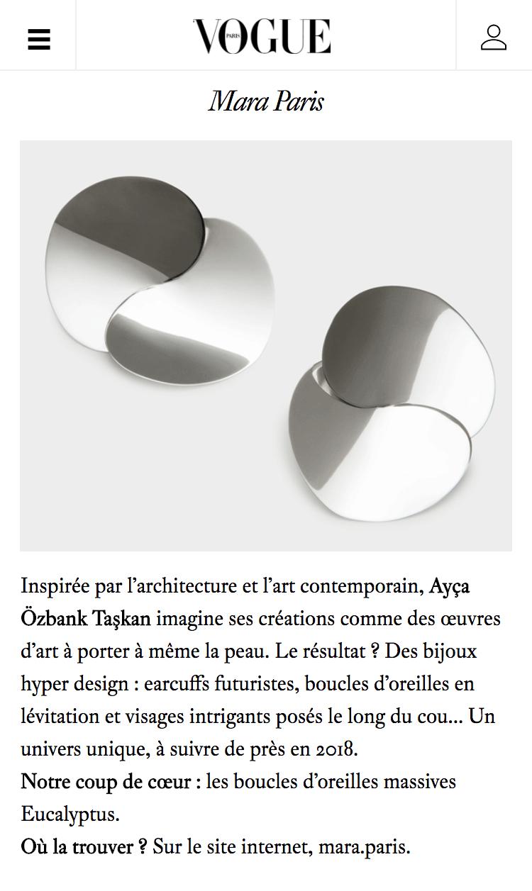 Vogue.fr - 8 créatrices de bijoux parisiennes à suivre en 2018
