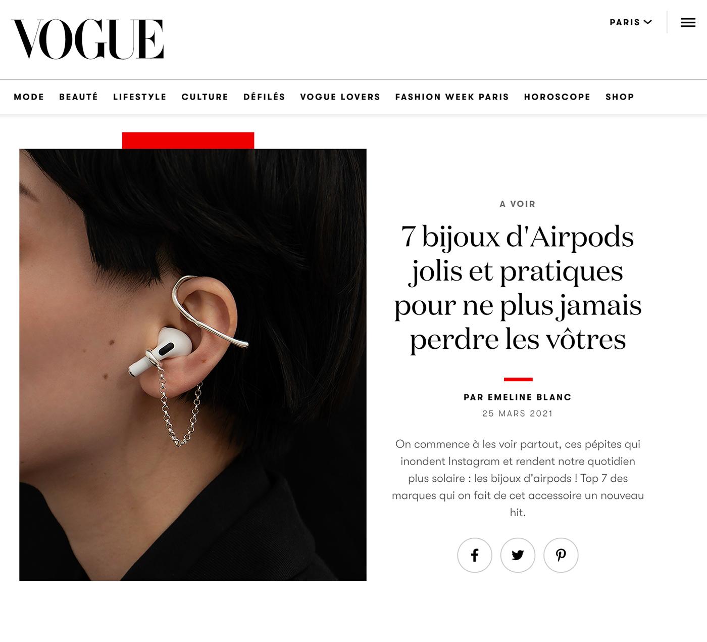 Vogue - 7 bijoux d'Airpods jolis et pratiques pour ne plus jamais perdre les vôtres par Emeline Blanc