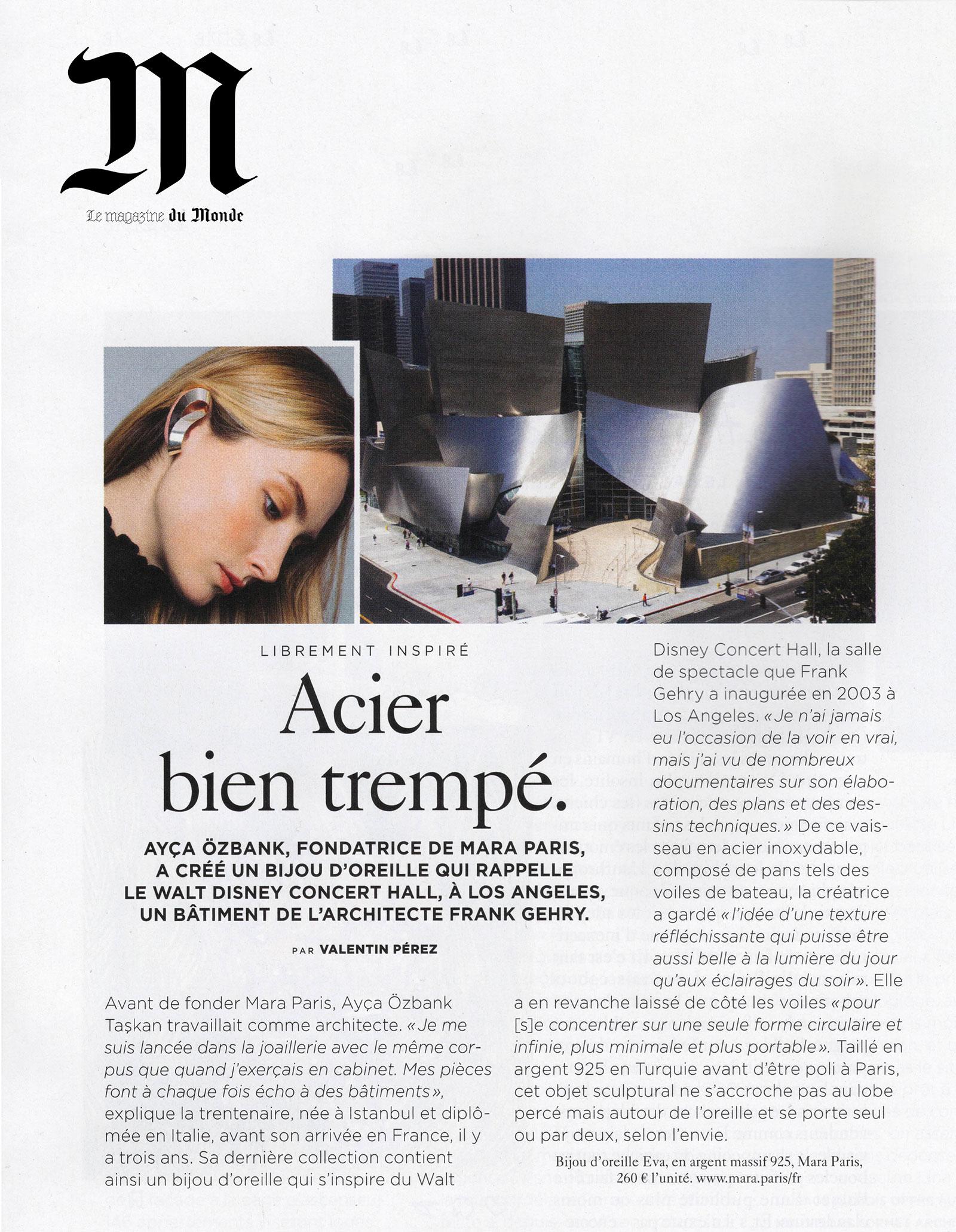 Le Monde - Interview by Valentin Pérez